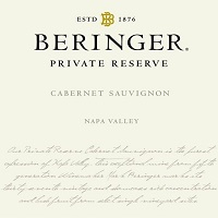 Hand-Picked Selection Beringer Private Reserve Cabernet Sauvignon Label