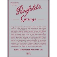 Hand-Picked Selection: Penfolds Grange Cabernet Sauvignon Label